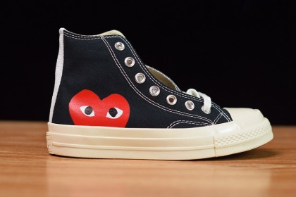 Converse Chuck Taylor All-Star 70s Hi Comme des Garcons PLAY Black 150204C